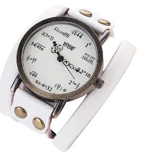 ホワイト 数式腕時計 ぐるぐる(腕時計(アナログ))