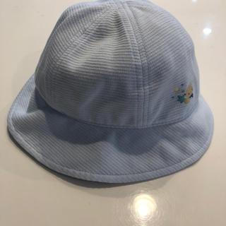 familiar - 美品 ファミリア 帽子 45〜47センチ ファースト帽子 ベビー ブルー 男の子