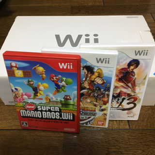 ウィー(Wii)のwii ソフト3本セット(家庭用ゲーム本体)
