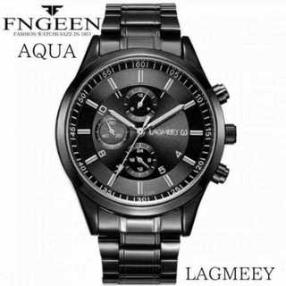 【海外限定】LAGMEEY フルブラック メンズ 腕時計 ウォッチ ブラック(腕時計(アナログ))