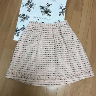 マーキュリーデュオ(MERCURYDUO)のツイード  スカート(ミニスカート)