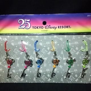 ディズニー(Disney)の東京ディズニーランド 25周年 ストラップセット(キャラクターグッズ)