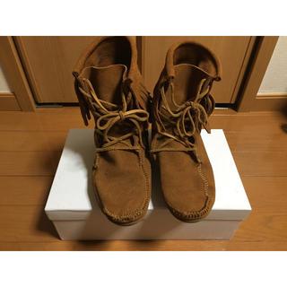 ミネトンカ(Minnetonka)のMINNETONKA ミネトンカ  ショート ブーツ   トランパー  中古(ブーツ)