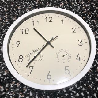 フランフラン(Francfranc)のmomo☆ 様専用 ◆掛け時計 温度計 湿度計 約30cm 送料無料(掛時計/柱時計)