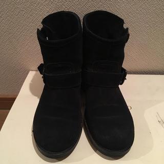 ローズバッド(ROSE BUD)のROSE  BUD スエードブーツ 黒(ブーツ)