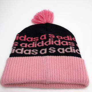 アディダス(adidas)のC006 美品★ アディダス ニット 帽子 スキー フリーサイズ ピンク(ニット帽/ビーニー)