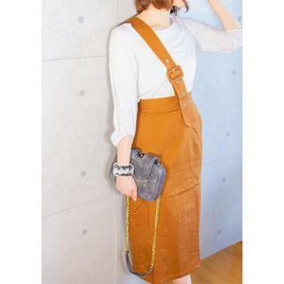 ザラ(ZARA)の新品 ワンショルダースカート(ひざ丈スカート)