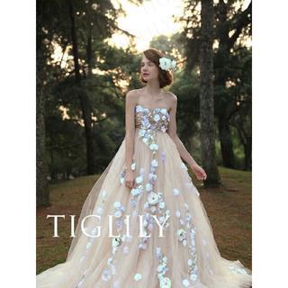 TIGLILY ☆彡お花いっぱい可愛い カラードレス 9号