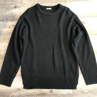 ジーユー(GU)の【美品】GU ジーユー   ニット セーター 黒 ブラック(ニット/セーター)