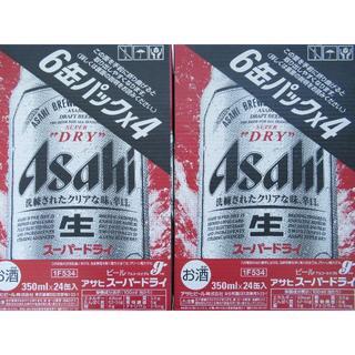 アサヒ(アサヒ)のアサヒ スーパードライ 350ml×24 2ケースです。MR319f4(ビール)