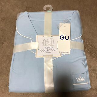 ジーユー(GU)のジーユー GU gu パジャマ 長袖 刺繍 メンズ ルームウェア(その他)