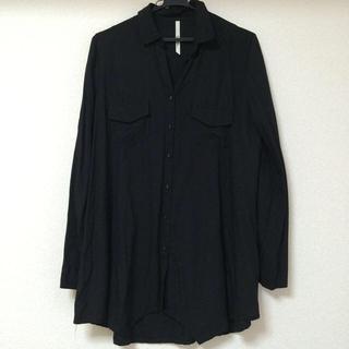 アッシュペーフランス(H.P.FRANCE)のアッシュペーフランス 黒ロングシャツ(シャツ/ブラウス(長袖/七分))