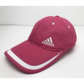 アディダス(adidas)のC012 美品★ アディダス キャップ ロゴ ピンク キッズも着用可能(キャップ)