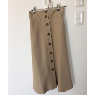 ジーユー(GU)のGUフロントボタンスカートフレア(ひざ丈スカート)