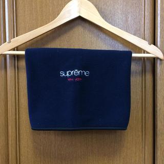 シュプリーム(Supreme)の新品未使用 supreme polartec ネックウォーマー ネイビー(ネックウォーマー)