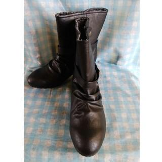 シマムラ(しまむら)のCLOSSHI ショートブーツ 黒(ブーツ)