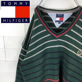 トミーヒルフィガー(TOMMY HILFIGER)の送料無料!レアカラー!トミーヒルフィガー ゆるだぼ 90s Vネック セーター(ニット/セーター)