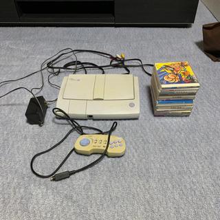 エヌイーシー(NEC)のpcエンジン duo  RX ソフト11本付き(家庭用ゲーム機本体)