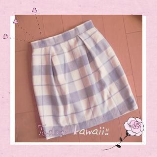 ♡グレーチェックタイトスカート♡(ひざ丈スカート)