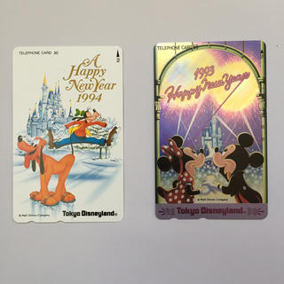 ディズニー(Disney)の未使用 ディズニーテレホンカード 2枚(その他)