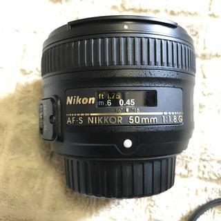 ニコン(Nikon)のニコン Nikon 50mm 1.8 付属品、箱完備(レンズ(単焦点))