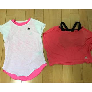 アディダス(adidas)のadidas☆ヨガウェア Tシャツ タンクトップ レディースM 4点セット(Tシャツ(半袖/袖なし))