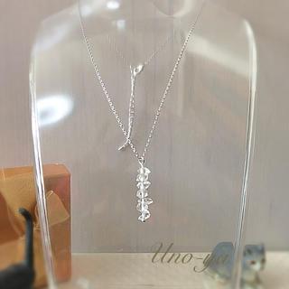 ハーキマーダイヤモンドILineネックレス(ネックレス)