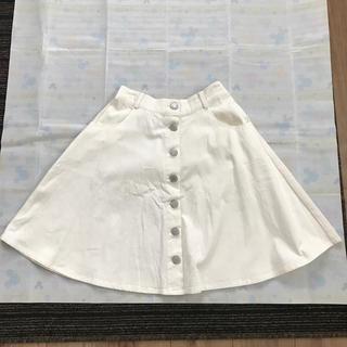 シマムラ(しまむら)のフロントボタンスカート(ひざ丈スカート)