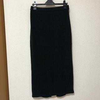 ジーユー(GU)のリブニットタイトスカート(ひざ丈スカート)