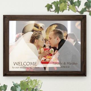 no45. トレペ風 写真ウェルカムボード 結婚式 光沢写真仕上げ A3.A4(ウェルカムボード)