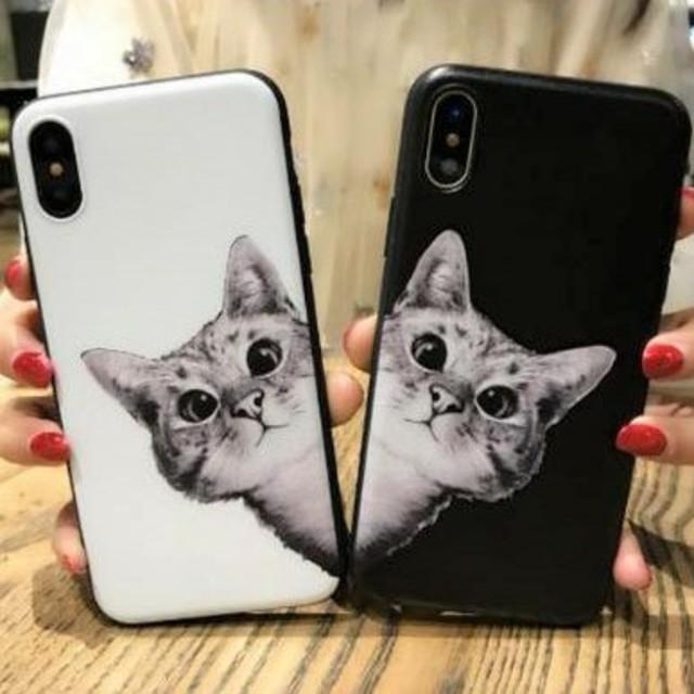 ケース iphone xs max / ♡かわいい♡猫ちゃん柄iPhoneケースの通販 by すなふきん's shop|ラクマ