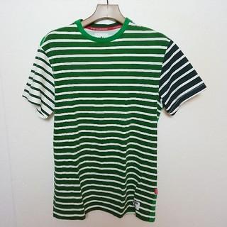 アディダス(adidas)のadidas アディダス マルチカラーボーダーTシャツ(Tシャツ/カットソー(半袖/袖なし))