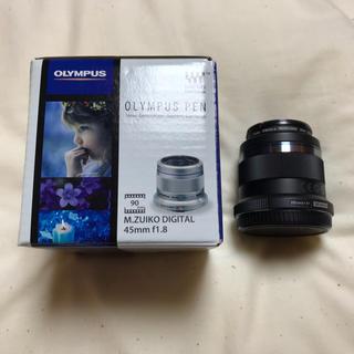 オリンパス(OLYMPUS)のM.ZUIKO DISITAL 45mm F1.8  ブラック 黒(レンズ(単焦点))