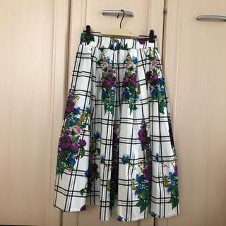 シマムラ(しまむら)の新品 花柄 ミモレ スカート(ひざ丈スカート)