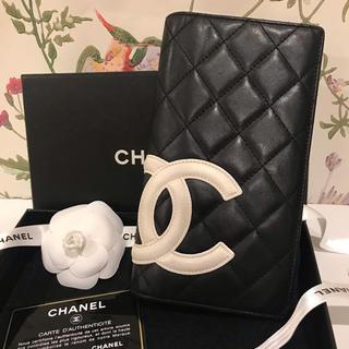 CHANEL - 正規品 美品 シャネル 長財布 カンボン
