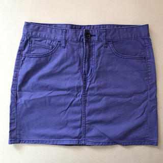 ジーユー(GU)のユニクロ パープル 紫 ミニスカート(ミニスカート)