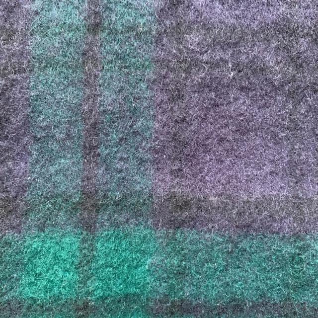 MUJI (無印良品)(ムジルシリョウヒン)の(うみぬこ様専用)【大判ストール】無印良品 ブラックウォッチ柄 腕通し穴あり レディースのファッション小物(ストール/パシュミナ)の商品写真