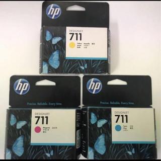 ヒューレットパッカード(HP)のhp プロッター   711インクカートリッジ 3色(PC周辺機器)