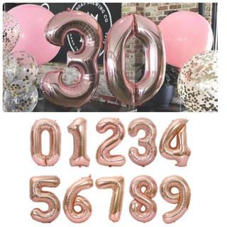 BIG数字バルーン 誕生日バルーン 名前 年齢 文字 アルファベット 数字(その他)
