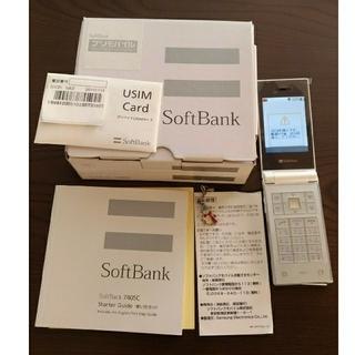 サムスン(SAMSUNG)のSamsung SoftBank 740SC sim フリー ホワイト (携帯電話本体)