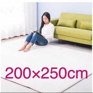 売れ筋♪ 洗えるラグマット アイボリー3畳用 200?×250cm♪(ラグ)