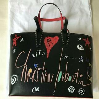 Christian Louboutin - クリスチャンルブタン カバタトートバッグ 黒赤