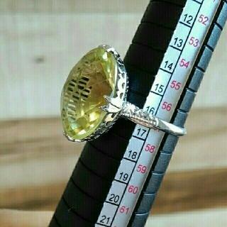 レモンクォーツの千本透かしリング(リング(指輪))