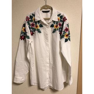 ザラ(ZARA)のザラ 花柄刺繍シャツ(シャツ/ブラウス(長袖/七分))