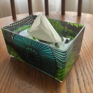 ポケットティッシュケース シールトラプータルハ 緑(ティッシュボックス)