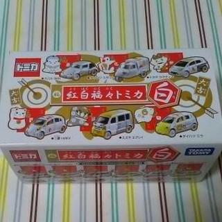 タカラトミー(Takara Tomy)の美品☆お正月限定 紅白福々トミカ 白 フルコンプ6台セット 販売終了品(ミニカー)