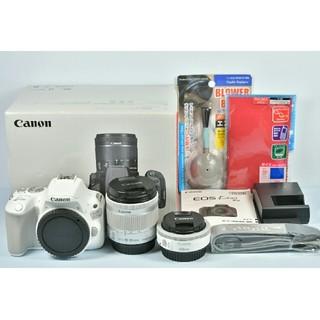 キヤノン(Canon)の極上美品 Canon EOS Kiss x9 ホワイト ダブルレンズセット(デジタル一眼)