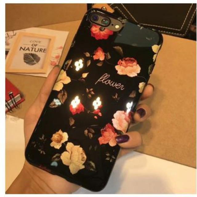 ♡かわいい♡レトロ風オールドローズ花柄iPhoneケース スクエアの通販 by すなふきん's shop|ラクマ