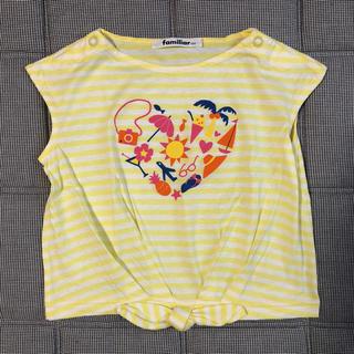 ファミリア(familiar)の一度着用 美品 ファミリア Tシャツ 90 100(Tシャツ/カットソー)
