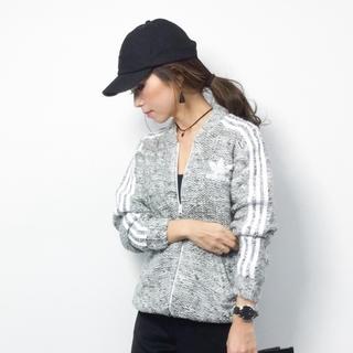 アディダス(adidas)のウールニットジャケット(ニット/セーター)